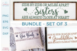 Side By Side Family Quote SVG