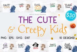 Cute and Creepy Kids Halloween Bundle