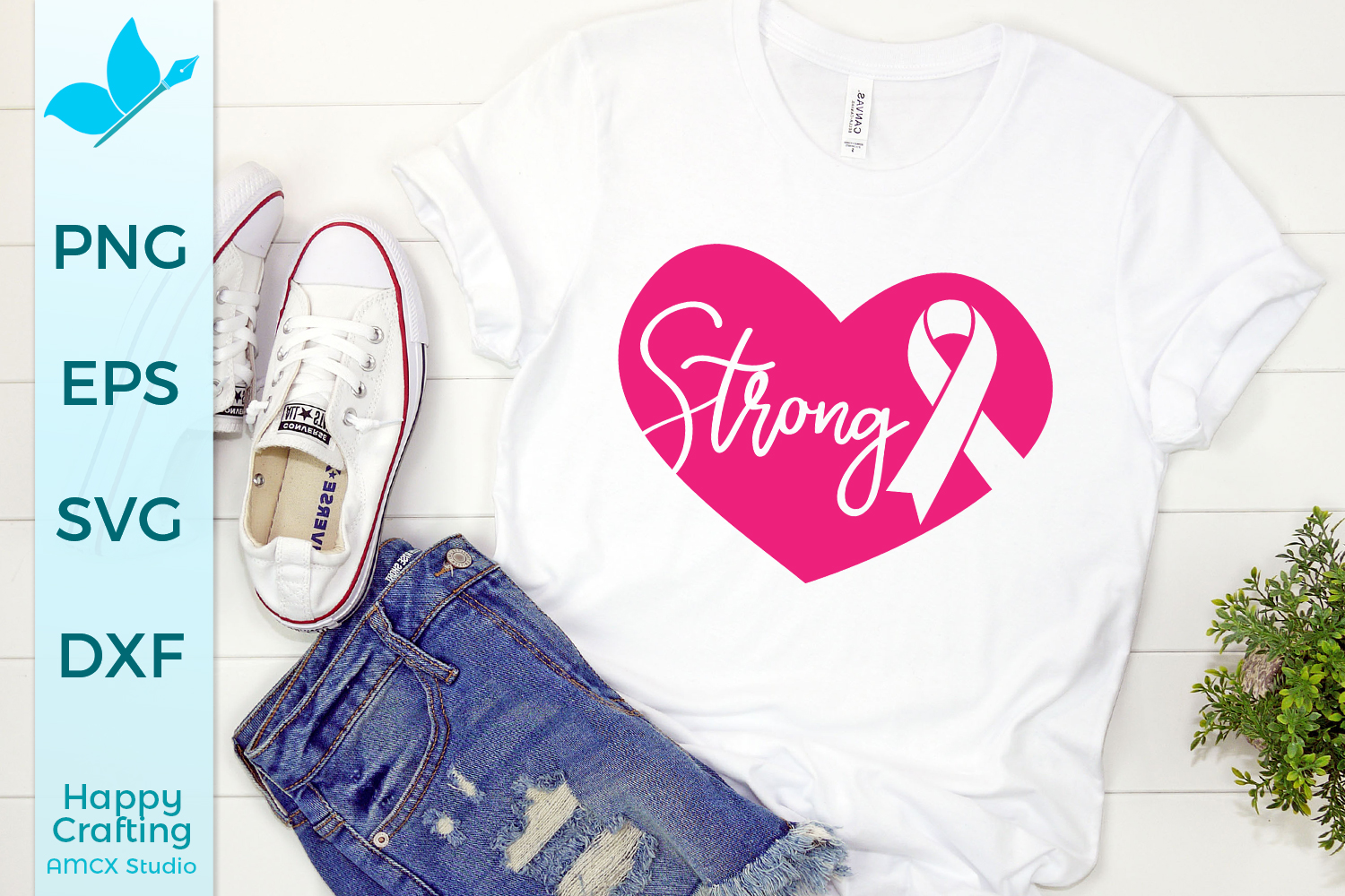 Strong Breast Cancer Awareness SVG