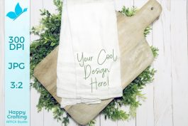 Farmhouse Tea Towel Mock Up