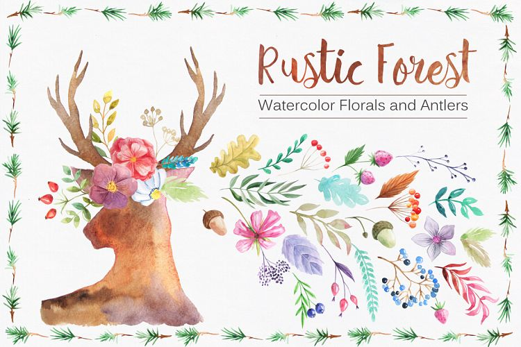 water color rustic forest