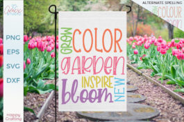 Grow Color Garden Tile