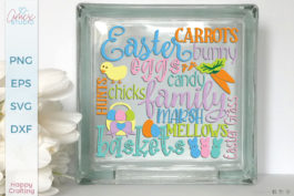 Easter Typography SVG