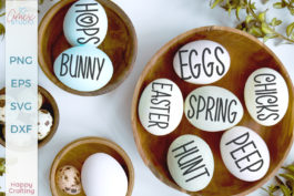 Easter Egg Words SVG