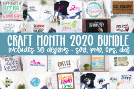 Craft Month Bundle SVG