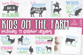 Kids On The Farm SVG