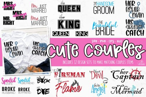 Couples His and Her Shirt SVG Bundle