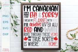 I'm Canadian Quote SVG