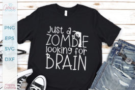 Zombie Looking For Brain SVG