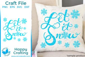 Let It Snow Hand Lettered SVG