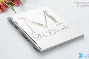 Spring Monogram Wedding Notebook