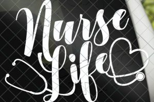 Nurse Life Decal