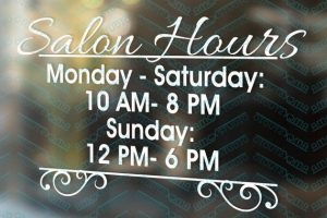 Salon Hours Bottom Border