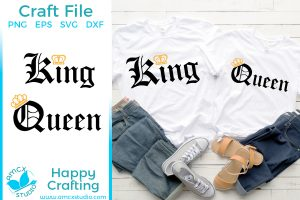 King and Queen Crown Couple SVG